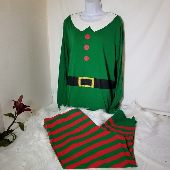 Christmas Elf Pajamas Pj s Women s  Men Size XXL. M 5be611159fe486c008f5eda7 798ce6a1b